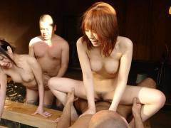 Babes and lads enjoy in hot spring sex groupsex