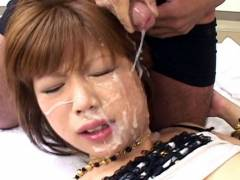 Miki Matsufuji hard pluging and bukkake