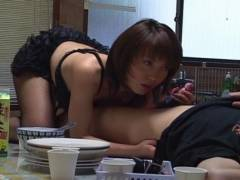 Sexy Mira Sugihara kitchen give head