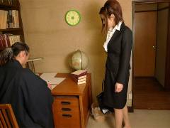 Office lady got boneed in a private home