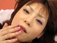 Anna Watanabe sucks two cocks and is screwed