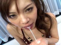 Sexy Japanese slut gets drilled by 2 horny men